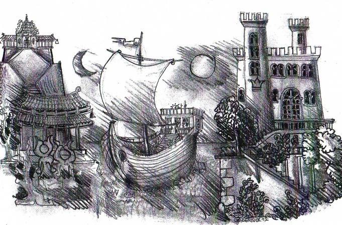 Bühnenbild Porfirio